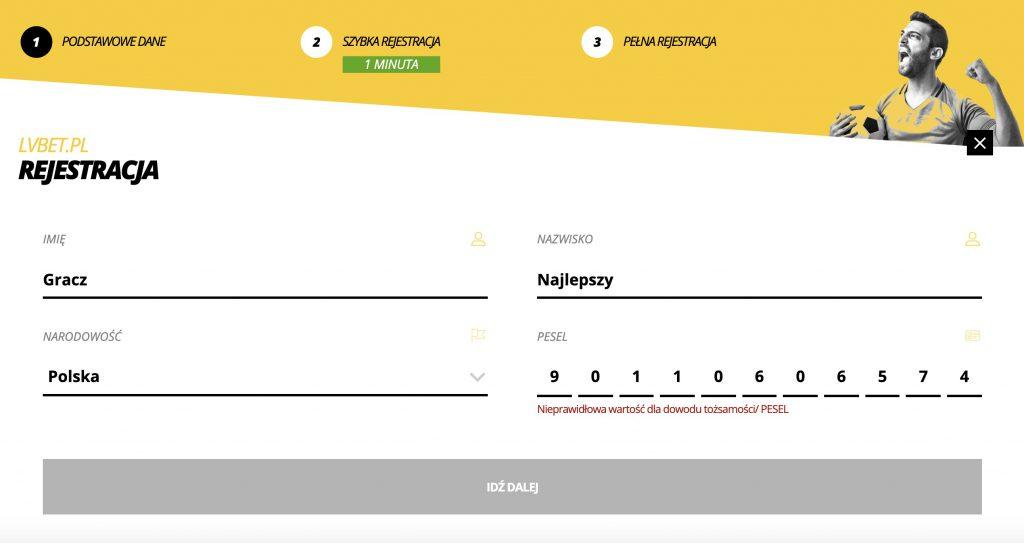 rejestracja lvbet online