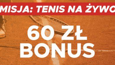 Tenisowe 60 PLN w Betclic Polska!