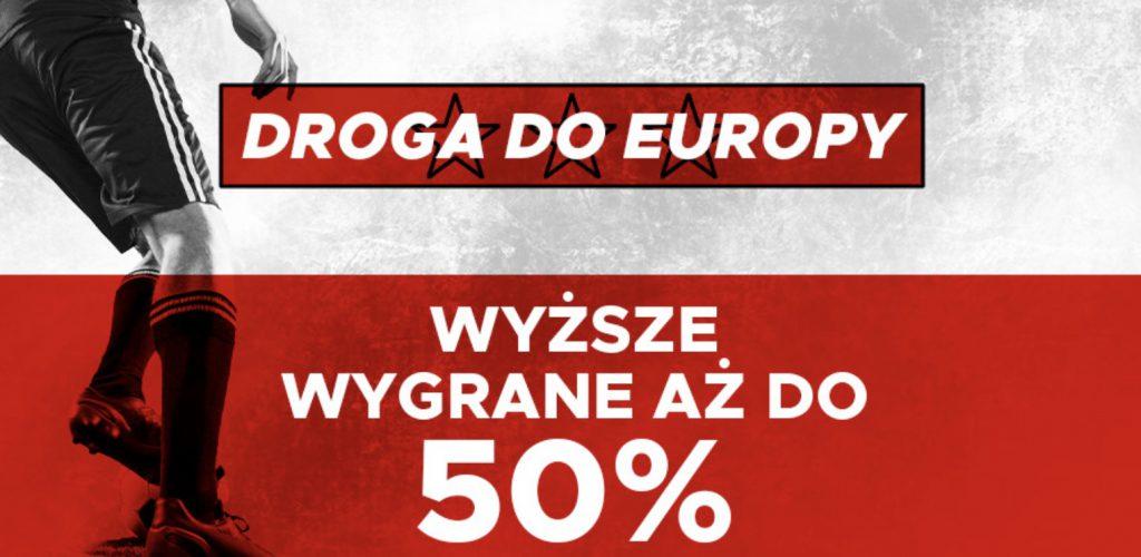 50% wygranych więcej na mecze Polaków w el. Euro 2020 w Betclic!